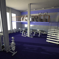 3d model gym machines