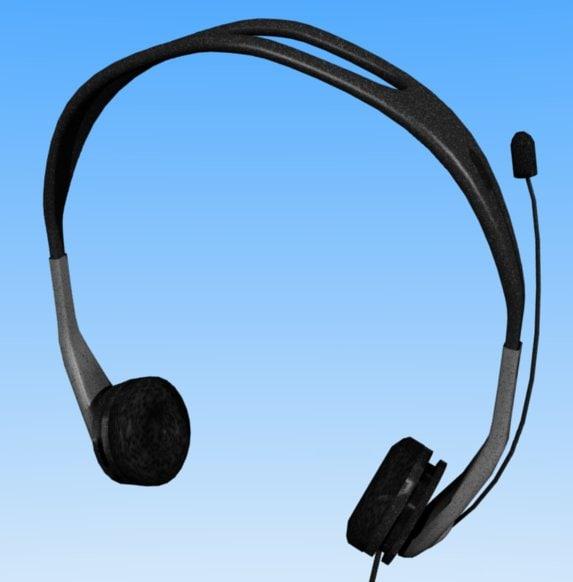 headphones microphone 3d blend