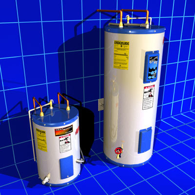 3d hot water heaters 01 model