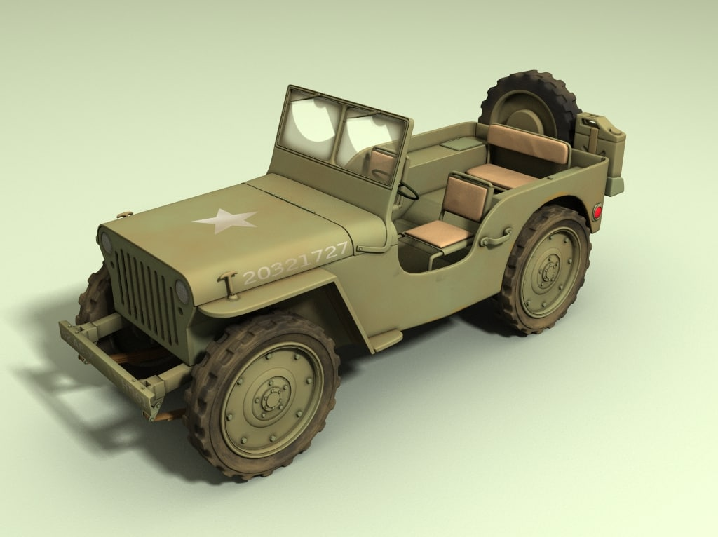 wwii jeep 3d model