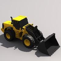 3d model l110f wheel loader