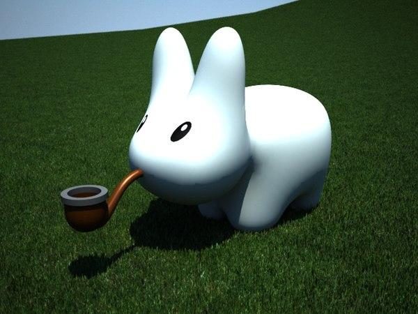 labbit toy rabbit 3d model
