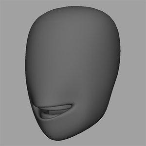 3d model lowman head shapes