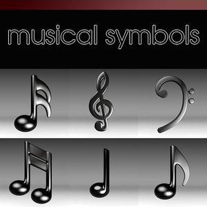 musical symbols 3d 3ds