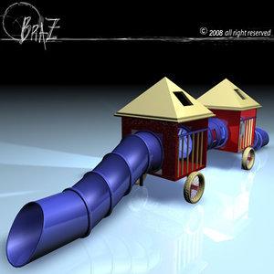 children playground 3d c4d