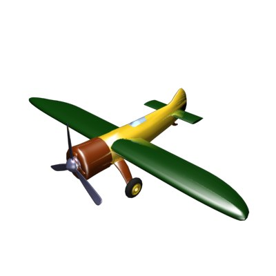 3ds max race plane