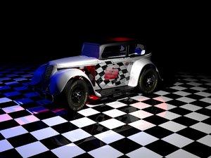 3d 600 racing car model