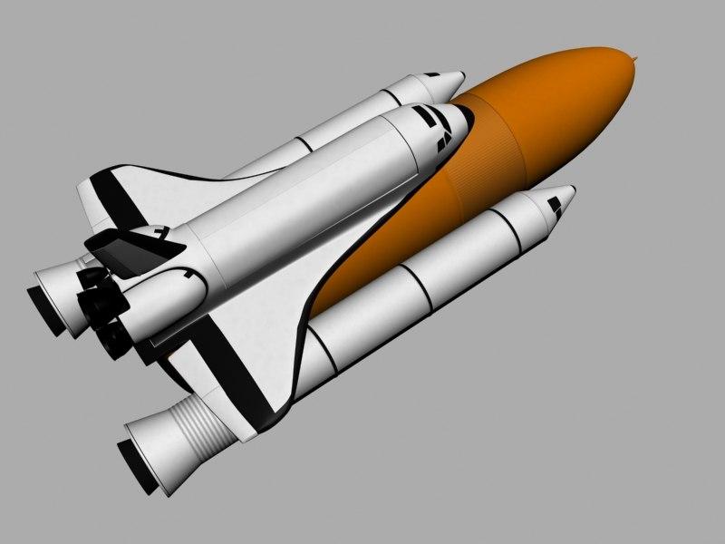 3d nasa space shuttle rockets