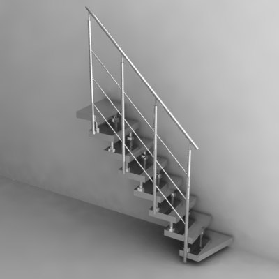 3d model of stairs