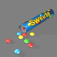 3d model of sweets