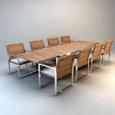 Garden Furniture 3d Model table pool garden 3d model