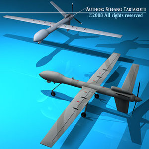 predator uav 3d model