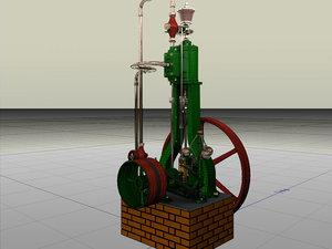 3d vertical steam engine