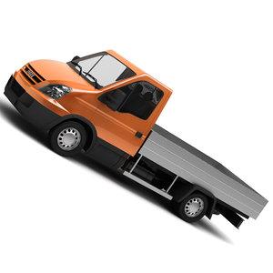 3d iveco van semi - model