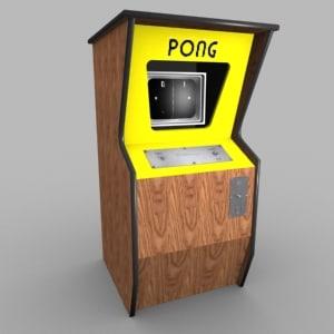 3d pong atari ball model