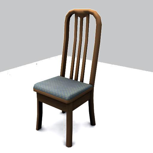 chair gibs broken 3d model