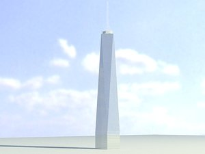 freedom tower 3d model