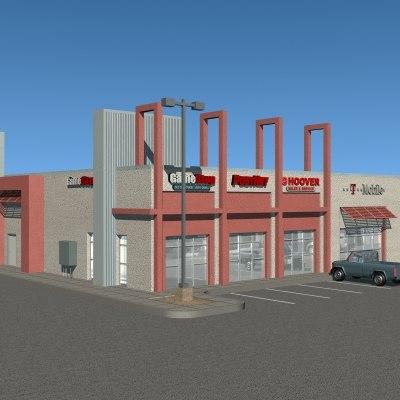 commercial structure 3d 3ds