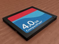 compact flash cf card 3d model