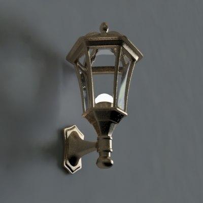 3d street lantern model
