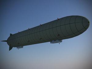 zeppelin rigid airship 3d model