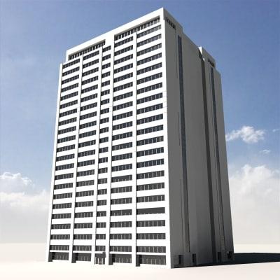 3ds max skyscraper building