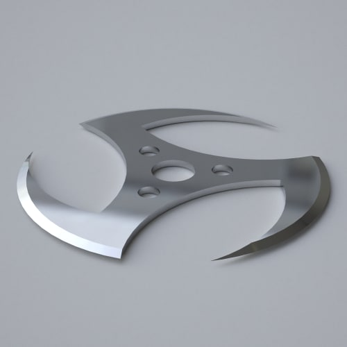 Ninja Throwing Shuriken 3d model shuriken ninj...