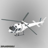 3d eurocopter generic white 355 model