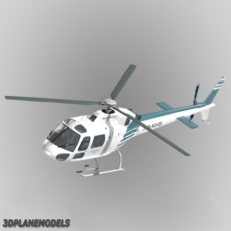 3d eurocopter heliservices 355 helicopter model