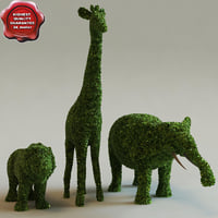 3ds max bushes form animals