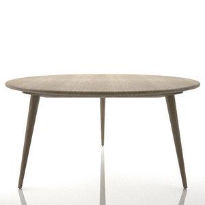 3d 3ds hans wegner ch008 table