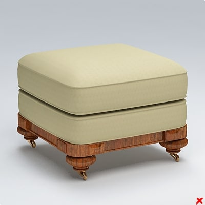 ottoman 3d max