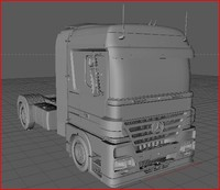 Mercedes Actros(High Detailed Truck)