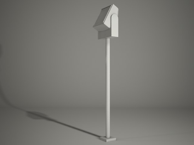 spot flood pole 3d model