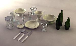 3d max glass porcelain