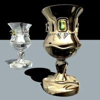 goblet g silver c4d
