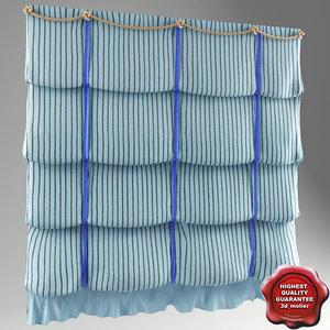 3d curtain london model