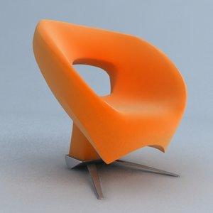 3d model loop chair