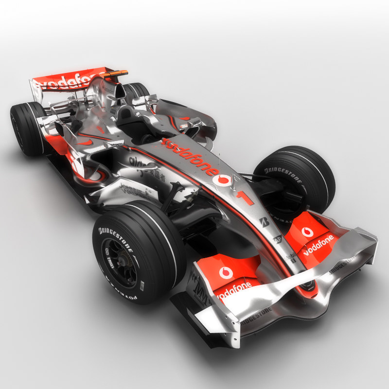 3d mclaren mercedes mp4-22 car model