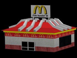 mcdonald s 3d model