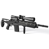 3d m14 sopmod rifle battle model