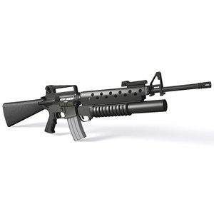 3d model of m16a2 assault rifle m16