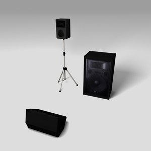 3d model of pa speaker