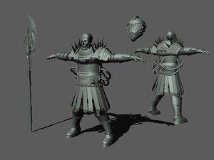 skeleton warrior character max