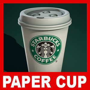 starbucks paper coffee cup dxf