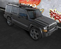 3ds max jeep commander
