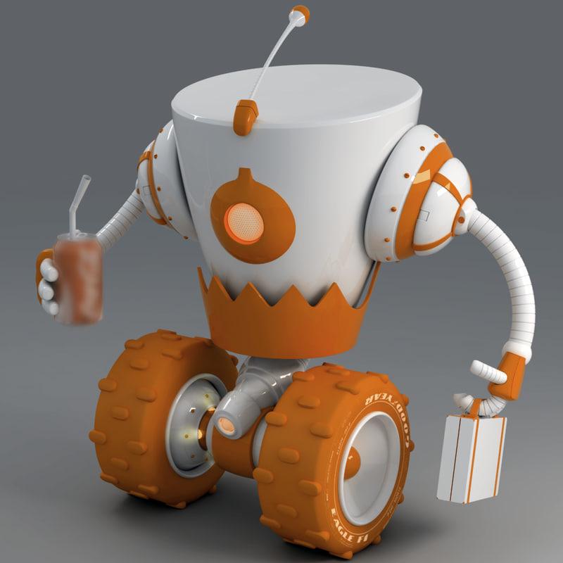 robot r8 3d max