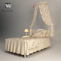 3ds max halley provence bed