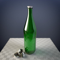 common glass bottle