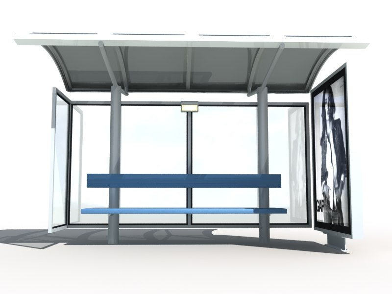 3d bus stop shelter